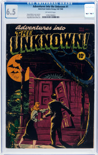 Adventures Into The Unknown #1 (ACG, 1948) CGC FN+ 6.5 Off-white pages