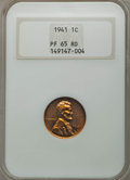 Proof Lincoln Cents: , 1941 1C PR65 Red NGC. PCGS Population (528/132). Mintage: 21,100. Numismedia Wsl. Price for problem free...