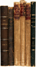 Books:Periodicals, [Bound Periodicals, Humor]. Six Bound Volumes of The HarvardLampoon, for the Years 1876 - 1879, 1892 - 1895, and ...(Total: 6 Items)