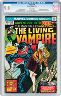 Bronze Age (1970-1979):Horror, Fear #20 Morbius, the Living Vampire (Marvel, 1974) CGC NM/MT 9.8White pages....