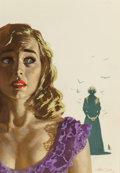 Paintings, William George (American, b. 1930). The Haunted Lady, paperback cover, 1954. Gouache on board. 17.5 x 12.25 in. (sight)...