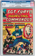 Silver Age (1956-1969):Superhero, Sgt. Fury and His Howling Commandos #13 (Marvel, 1964) CGC VF 8.0 Cream to off-white pages....