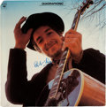 Music Memorabilia:Autographs and Signed Items, Bob Dylan Signed Nashville Skyline Quadraphonic Album Cover (Columbia, 1969)....