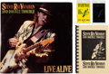 "Music Memorabilia:Autographs and Signed Items, Stevie Ray Vaughan Signed Live Alive LP (Epic E2 40511,1986), ""Live Alive"" Tour Book and Two Backstage Passes...."