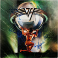 Music Memorabilia:Autographs and Signed Items, Van Halen Signed 5150 LP (Warner Bros. 25394, 1986)....