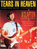 "Music Memorabilia:Autographs and Signed Items, Eric Clapton Signed ""Tears in Heaven"" Sheet Music (Warner Bros.,1992)...."