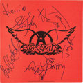 Music Memorabilia:Autographs and Signed Items, Aerosmith Signed Permanent Vacation Promotional Album Flat(Geffen GHS 24162, 1987)....