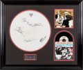 Music Memorabilia:Autographs and Signed Items, Beach Boys - Signed Drum Head in Framed Display. ...