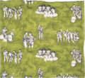 Music Memorabilia:Memorabilia, Beatles Vintage Curtain Panel in Green (Holland, 1964). ...