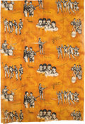 Music Memorabilia:Memorabilia, Beatles Vintage Curtain Panel and Pillowcase (Holland, 1964). ...