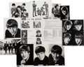 Music Memorabilia:Photos, Beatles - Group of Ten Vintage Photos by Dezo Hoffman with OriginalNEMPIX Order Form (UK, 1963). ...