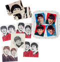 Music Memorabilia:Memorabilia, Beatles Serving Tray with Napkins and Tea Towels (UK, 1964)....