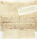 Books:Manuscripts, Group of Four 17th and 18th Century Indentures on Vellum. Circa1700....
