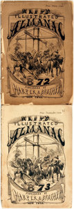 Books:Periodicals, [Periodicals]. [Thomas Nast]. Two Issues of Nast's IllustratedAlmanac. New York: Harper & Brothers, 1872-1873.... (Total:2 Items)