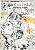 Original Comic Art:Covers, Ron Wilson and Mike Esposito Mighty World of Marvel #65 Cover Hulk Original Art (Marvel UK, 1970).... (Total: 2 Items)