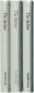 Books:Art & Architecture, [Featured Weekly] [Bound Periodicals]. Three Volumes of TheArchive: The Center for Creative Photography. Tucson: Th...(Total: 3 Items)