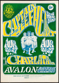 "Captain Beefheart & His Magic Band at Avalon Ballroom (The Family Dog, 1966). Concert Poster (14.25"" X 20""..."
