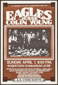 "Movie Posters:Rock and Roll, The Eagles at UC Santa Barbara (A.S. Concerts & PacificPresentations, 1974). Concert Poster (15.5"" X 22.5""). Rock andRoll...."