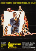 "Movie Posters:James Bond, On Her Majesty's Secret Service (United Artists, 1970). German A1(23.25"" X 33"") and German Program (28 Pages X 8"" X 11""). J...(Total: 2 Items)"