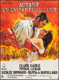 "Gone with the Wind (MGM, R-Late 1970s). French Grande (45.5"" X 62""). Academy Award Winners"