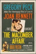 "Movie Posters:Drama, The Macomber Affair (United Artists, 1947). One Sheet (27"" X 41""). Drama.. ..."