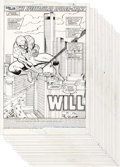 """Original Comic Art:Complete Story, Sal Buscema Spectacular Spider-Man #142 """"Will"""" Complete22-Page Story Punisher Original Art (Marvel, 1988).... (Total: 22Original Art)"""