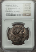 Ancients:Greek, Ancients: AEOLIS. Myrina. Ca. 155-145 BC. AR tetradrachm (16.74gm)....