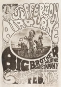 "Music Memorabilia:Posters, Jefferson Airplane/Big Brother and the Holding Company ""TribalStomp"" Fillmore Auditorium Concert Poster FD-1 (Family Dog, 196..."