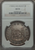 Mexico, Mexico: Ferdinand VI Pillar Dollar of 8 Reales 1758 Mo-MM AU55NGC,...
