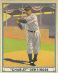 Baseball Cards:Singles (1940-1949), 1941 Play Ball Charley Gehringer #19. The Hall of Fame secondbaseman for the Detroit Tigers is featured on this classic ear...