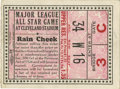 Baseball Collectibles:Tickets, 1935 All-Star Game Ticket Stub. What we present here is awonderfully preserved ticket stub from the third installation of...