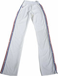 Basketball Collectibles:Uniforms, 1990-91 Manute Bol Game Worn Warm-Up Pants. From the time that hecame to the NBA from his native Sudan, Manute Bol was a p...