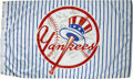 Autographs:Others, New York Yankees Signed Street Banner. Amazing pinstriped flag hungon the streets of the Bronx to celebrate the borough's ...