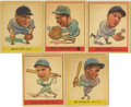 Baseball Cards:Lots, 1938 Goudey Baseball (R323) Group Lot of 5. Often referred to as the Goudey Heads-Up set, this issue feature's a photo used ...