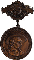 Military & Patriotic:Civil War, 1907 BADGE FOR THE FIRST REUNION OF GENERAL GEORGE CUSTER'S COMMAND ...