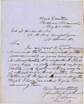 Military & Patriotic:Civil War, GENERAL NATHANIEL LYON, FIRST UNION GENERAL KILLED IN THE CIVIL WAR, AUTOGRAPH LETTER SIGNED....
