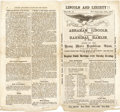 Political:Small Paper (pre-1896), LINCOLN & HAMLIN FOUR-PAGE FACT SHEET, 1860....