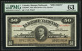 Canadian Currency: , Quebec City, PQ- La Banque Nationale $50 Nov. 2, 1922 Ch #510-22-08S Specimen. ...