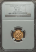 German States:Bavaria, German States: Bavaria. Ludwig II gold 5 Mark 1877-D MS66 NGC,...