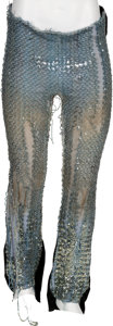 Music Memorabilia:Costumes, Alice Cooper - Neal Smith Stage-Worn Sequined Pants (circa1972)....