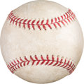 Baseball Collectibles:Balls, 2011 Derek Jeter Game Used Baseball from 3,000th Hit At-Bat with Detailed Provenance. ...