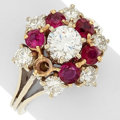 Estate Jewelry:Rings, Diamond, Ruby, Gold, White Gold Ring. ...