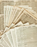 Books:Periodicals, [Newspapers]. Large Lot of Approximately 45 Issues of SacramentoDaily Union. November 1859 - December 1859....
