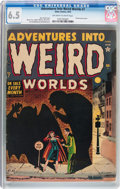 Golden Age (1938-1955):Horror, Adventures Into Weird Worlds #7 (Atlas, 1952) CGC FN+ 6.5 Off-whiteto white pages....