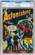 Golden Age (1938-1955):Horror, Astonishing #36 (Atlas, 1954) CGC VF 8.0 Off-white pages....