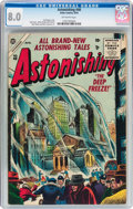 Golden Age (1938-1955):Science Fiction, Astonishing #40 (Atlas, 1955) CGC VF 8.0 Off-white pages....