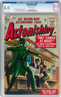 Golden Age (1938-1955):Science Fiction, Astonishing #42 (Atlas, 1955) CGC VF 8.0 Off-white pages....