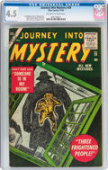 Golden Age (1938-1955):Horror, Journey Into Mystery #29 (Atlas, 1955) CGC VG+ 4.5 Off-white towhite pages....