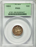 Proof Seated Dimes, 1884 10C F-101, R.3, PR65 PCGS....