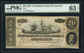 Confederate Notes:1864 Issues, T67 $20 1864 PF-7 Cr. 408.. ...